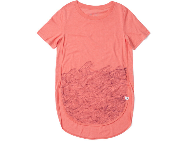 tentree Rising Sea T-Shirt Femme, porcelain rose